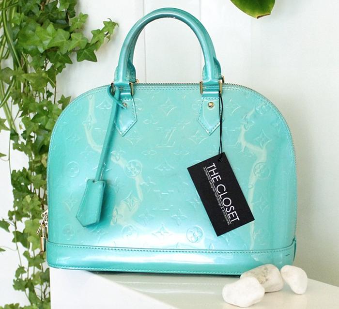 Louis Vuitton aqua green alma pm